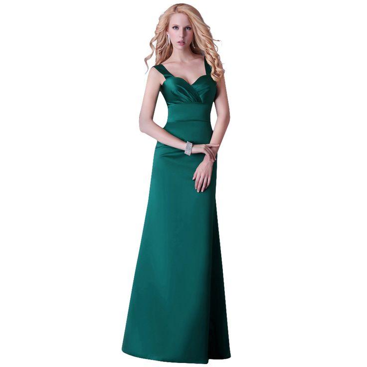 Robe longue vert clair