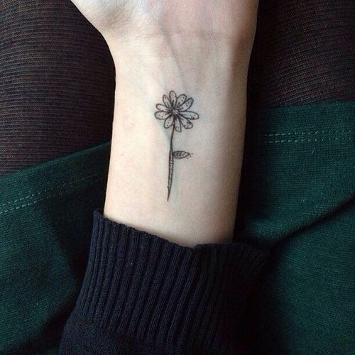 Wrist Daisy Tattoo