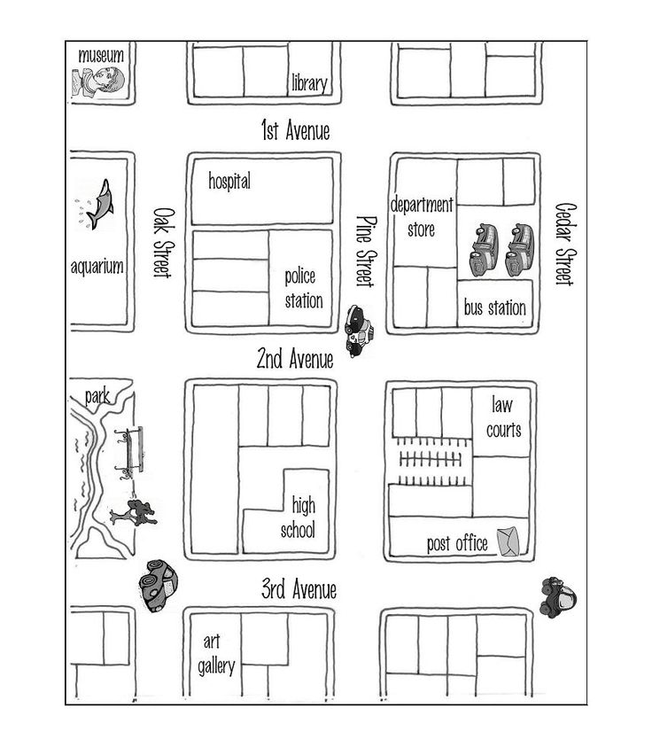 giving directions level a teacher jane esl teacher create a map grammar practice. Black Bedroom Furniture Sets. Home Design Ideas