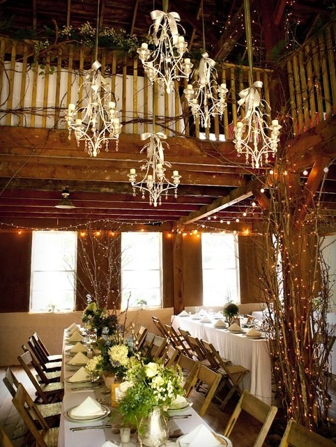Clusters of Chandeliers love this idea @Pamela Pemsler