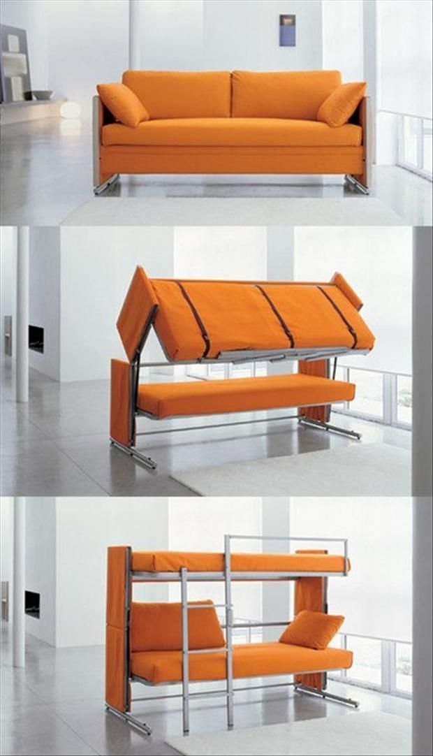 This Is A Clever Convertible Couch To Bunk Bed  Perfect For A Small  Office/guest Room.