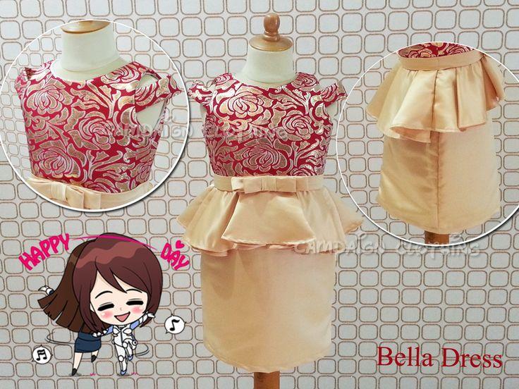 MM223 Bella Dress for kids 1-12y and Moms. Order by BB 28307189, WA/Line 081-330686508 Mumu Stuff. Merk Campaign Clothing. High Quality. Happy Shopping JBU