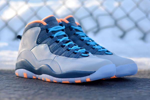 Authentic Nike Air Jordan 10 Wolf Grey Dark Powder Blue New Slat