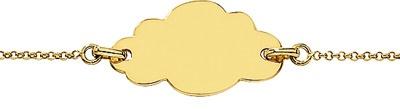 Gourmette bébé Nuage. Or jaune. Création DecoBB.com