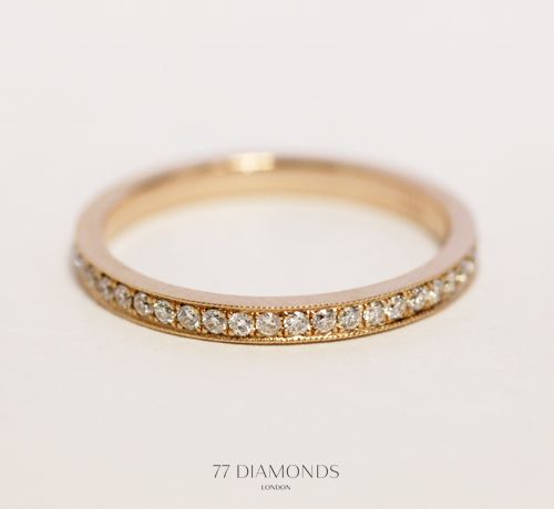 Our beloved 'Paragon'  in #rosegold featuring gorgeous milgrain details, weddingband, bridal, gift, present, jewellery