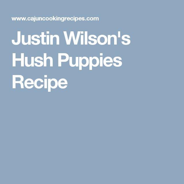 Justin Wilson's Hush Puppies Recipe