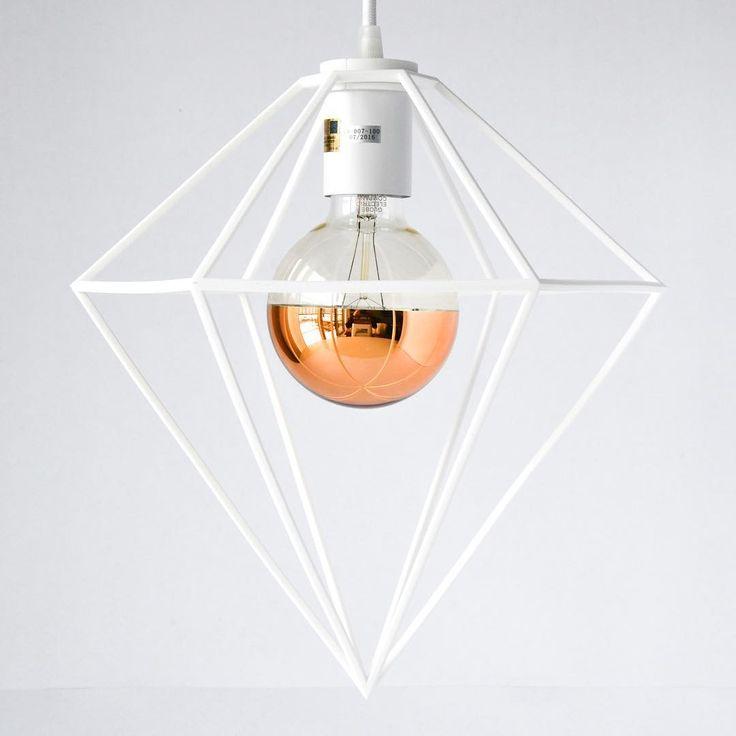 Diamond Pendant Light designed by modern lighting studio DeVignCo.