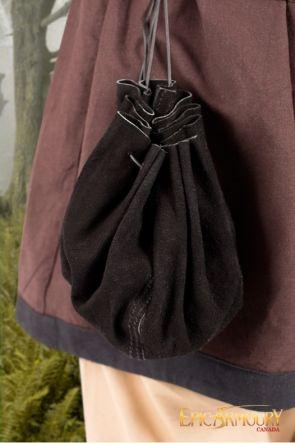 Black Round Leather Bag