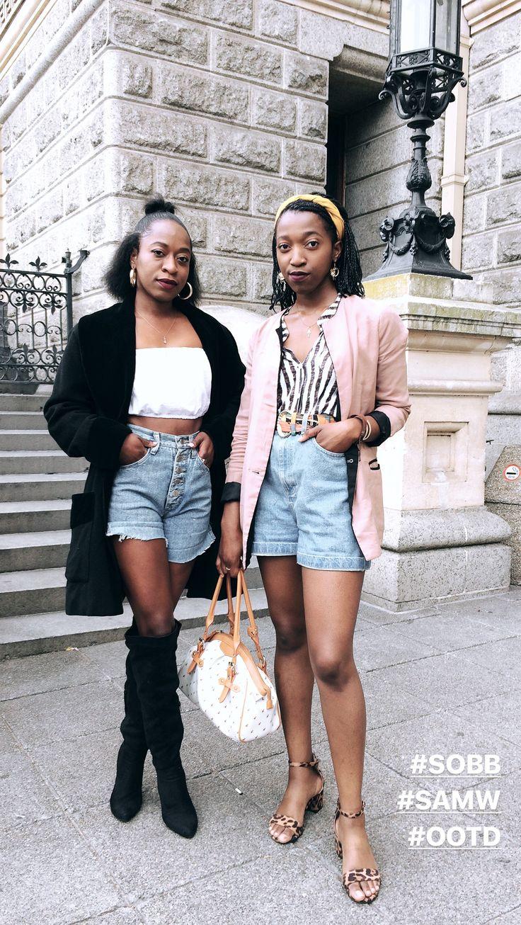 SAMW 2018  #fashion #beauty #lifestyle #style #denim #highwaist #jackets #blackgirls