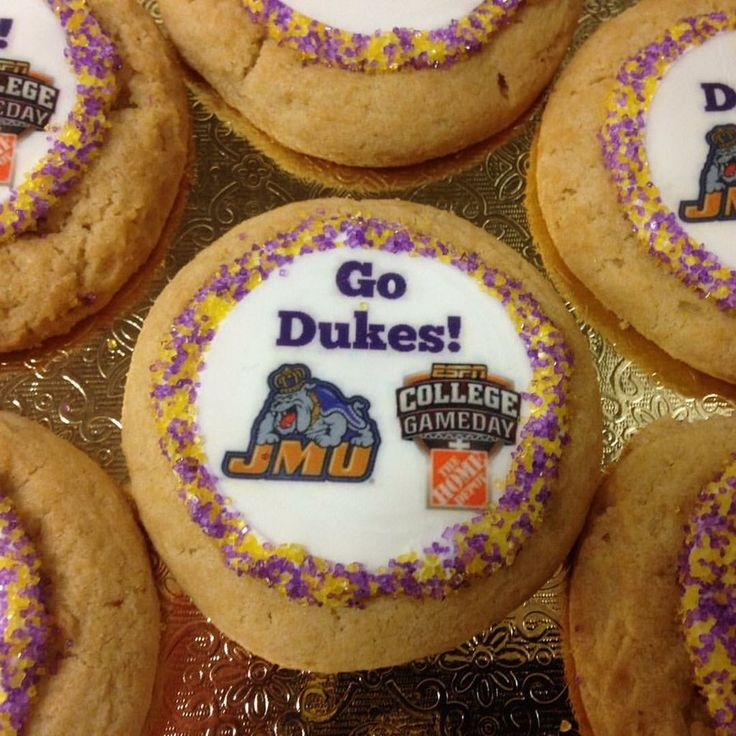 Sweet Success to our Dukes this weekend!  Welcome @CollegeGameDay! So excited to serve. #JMUNation #JMUHomecoming