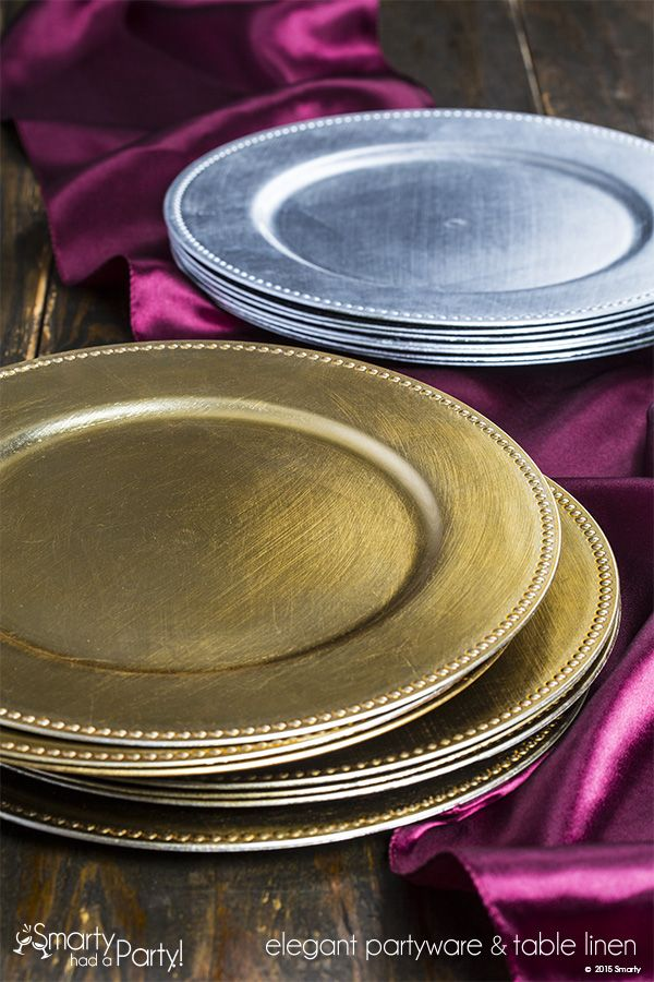 Shop discounted dinner table charger plates for accents under dinnerware at fancy shower holiday catering wedding on a budget. & 23 best Charger Plates images on Pinterest | Charger plates Dinner ...