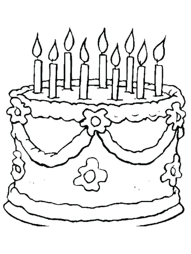 hello kitty birthday cake coloring pages. Birthday cake is ...