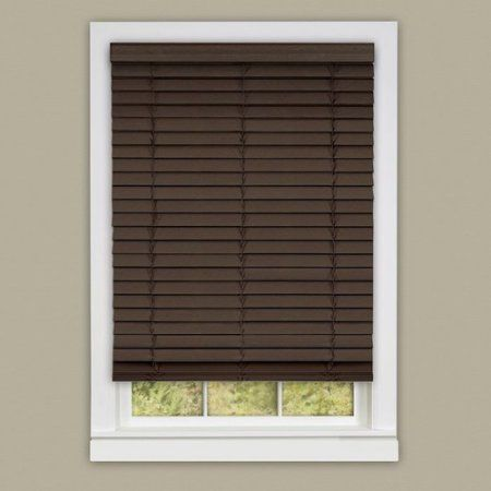 Cordless Madera Flasa Plantation Blinds, Brown