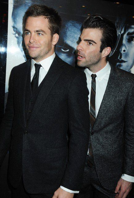Lovely Chris Pine and Zachary Quinto