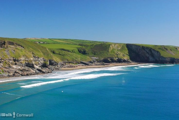 View of Trebarwith Strand from Penhallic Point