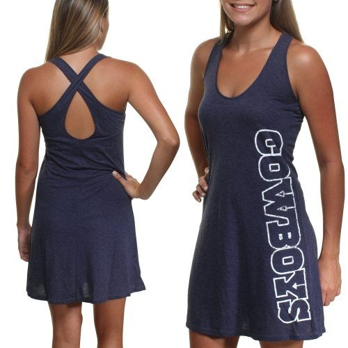 Dallas Cowboys Ladies Marigold Tri-Blend Dress - Navy Blue