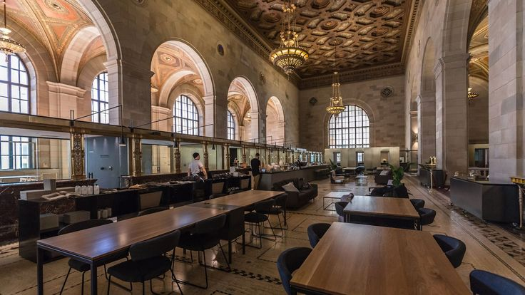 Visit the stunningly beautiful former Royal Bank building in Old Montreal on St-Jacques Street. It has been turned into a cafe.