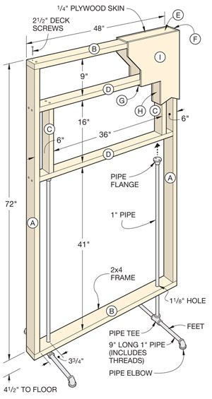 How To Build a Freestanding Divider Wall