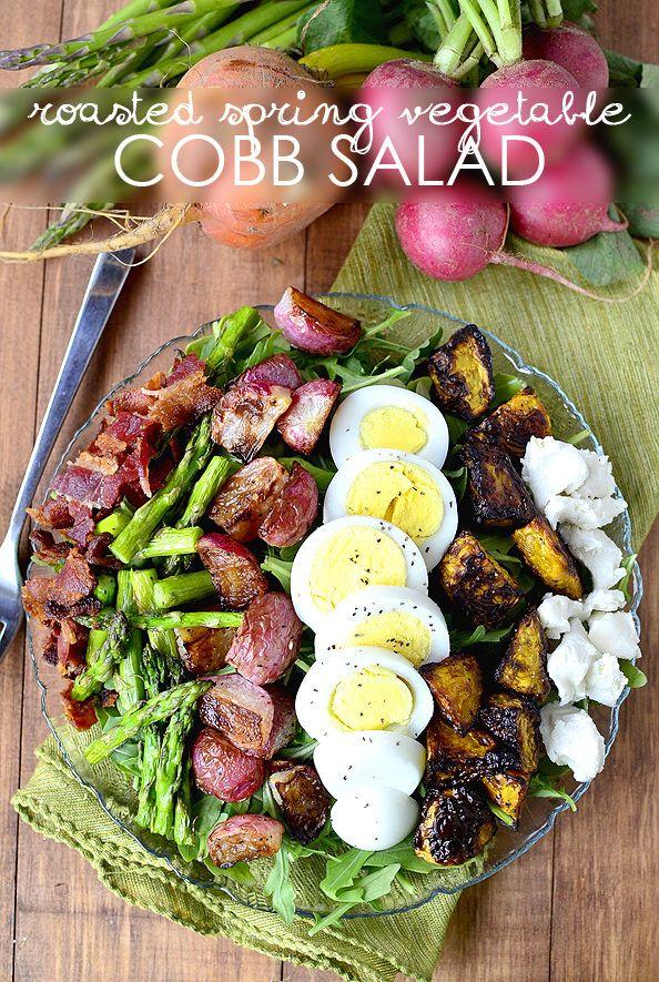 Roasted Spring Vegetable Cobb Salad