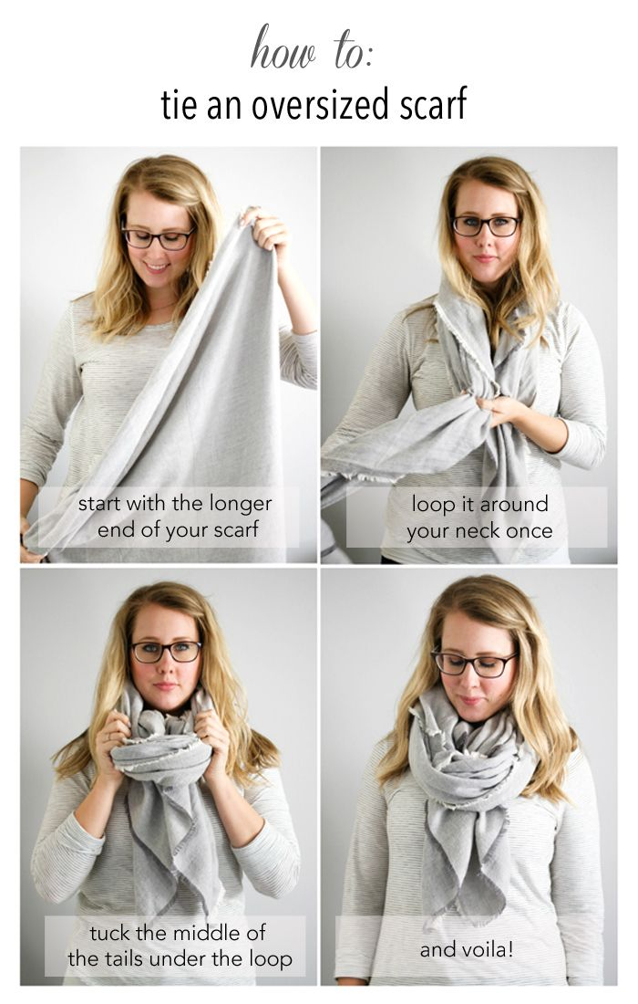 how to: tie an oversized scarf