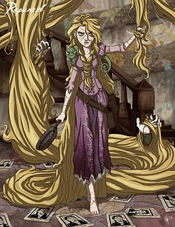 Tangled.  Literally.  You need to check out the Twisted Princess series if you haven't done so already. (Artist - Jeffrey Thomas)