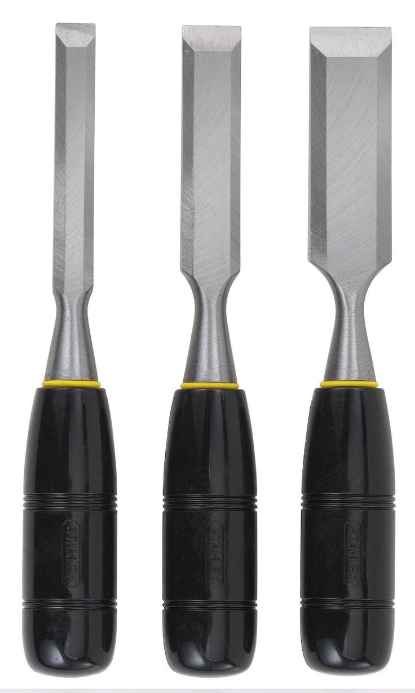 Stanley 16-150 Wood Chisel Set Steel Blade, 3 Piece