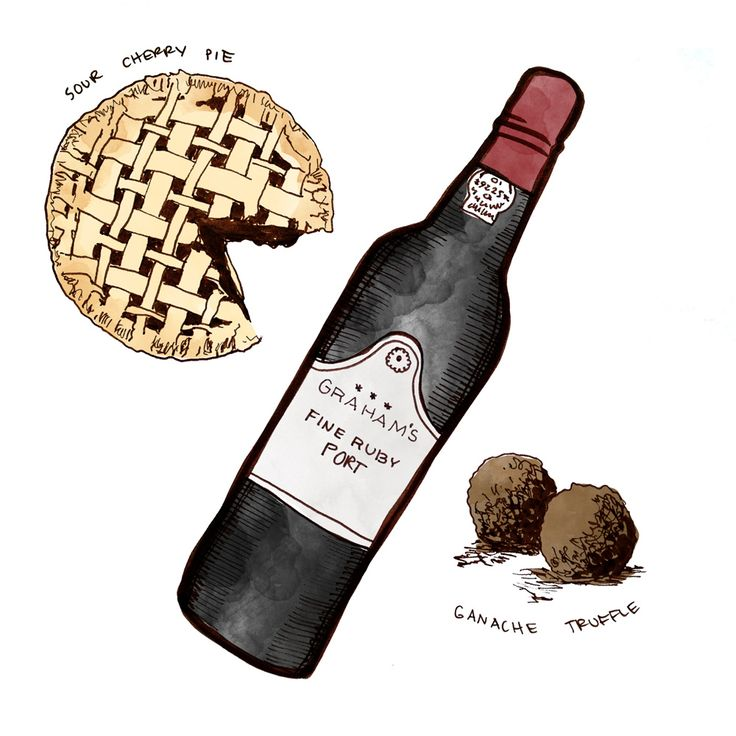 Port pairings with Ruby Port, Chocolate ganache Truffles and Sour Cherry Pie