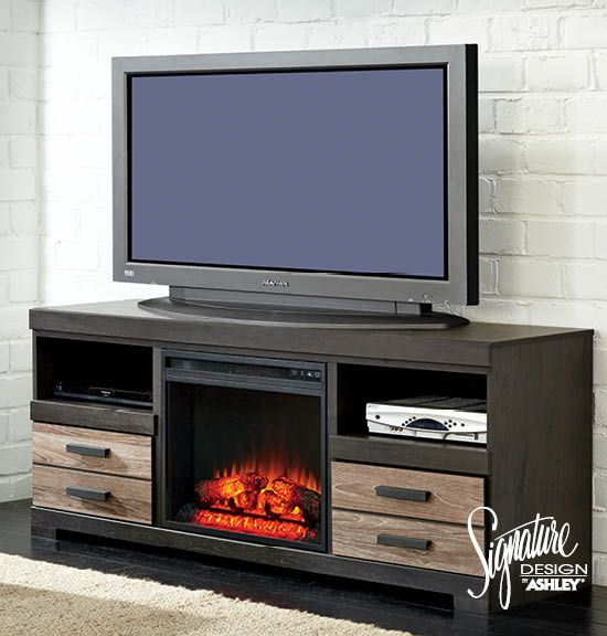 TV Stands - Living Room Furniture - Harlinton TV Stand with Fireplace  Insert Option - Ashley - 17 Best Images About TV Stands & Entertainment Walls On Pinterest