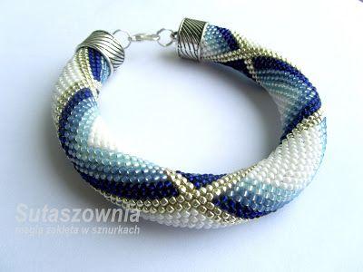Sutaszownia-magia zaklęta w sznurkach: Jako pierwsze pokaże Wam bransolety-sznury szydełk...