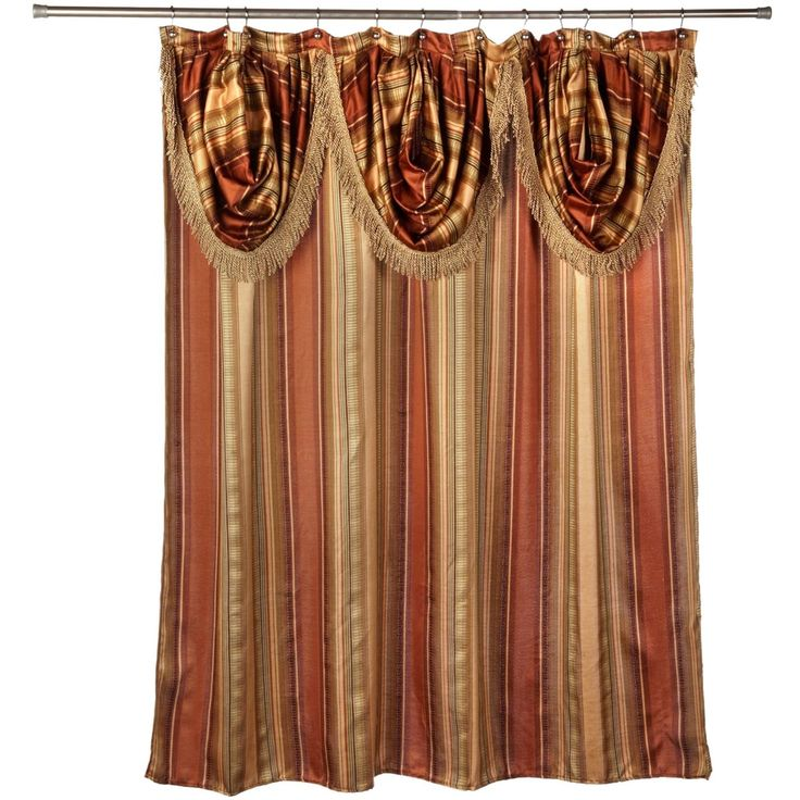 Ultra-Modern Shower Curtain with Valance and Hooks Set or Separates