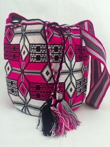 Wayuu Mochila bag Fire in the Snow