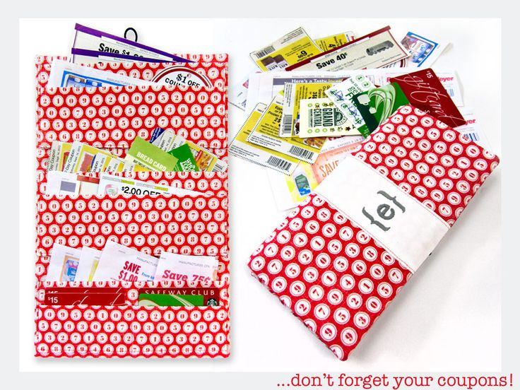 Coupon Clipper Organizer & Wallet   Sew4Home. Great for coupons, receipts, etc.