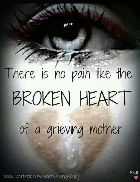 I lost my Brother my Mum has lost her Son. I can only imagine the loss/pain she is going through, cos I know how I'm feeling.
