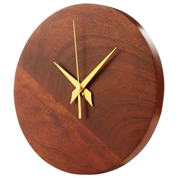 Horloge murale en bois à aiguilles en bois de Indigo | Horloges Articles-cadeau | chapters.indigo.ca