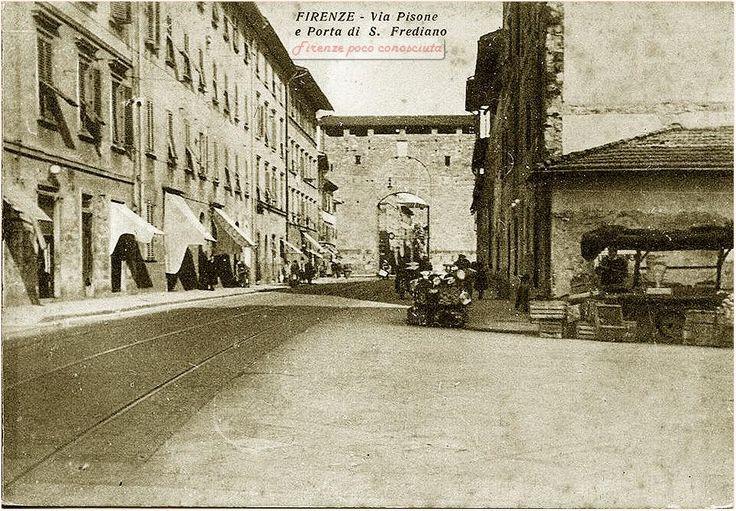 Porta San Frediano e via Pisana, sulla cartolina via Pisone, hanno ribattezzato una strada, bella precisione