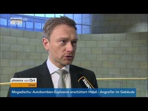 Kanzlerkandidat der SPD steht fest: Christian Lindner zu Martin Schulz am 25.01.2017 - YouTube