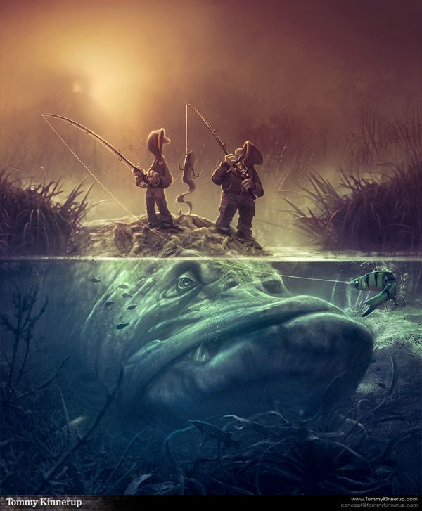 Fish Art by Tommy Kinnerup | #illustration #fantasy #fishing < found on www.behance.net pinned by www.BlickeDeeler.de | Follow us on www.facebook.com/BlickeDeeler