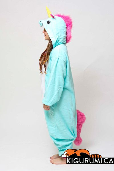 Blue Unicorn Onesie Kigurumi Animal Costume Adult Fleece Pajamas