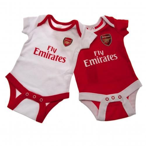 Stylish Arsenal baby bodysuit to fit a baby aged 0-3 months in the latest kit design, ensuring everyone knows who they support. FREE DELIVERY on all of our gifts