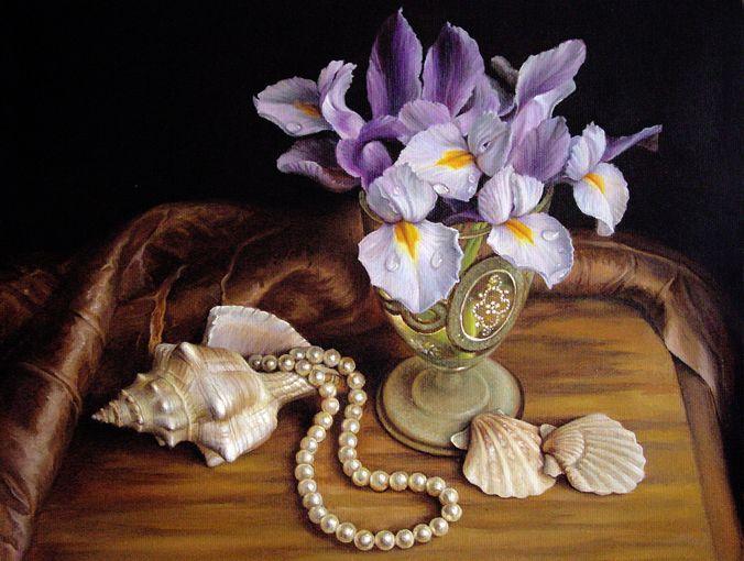 Still Life with pearls. MARIA LLIEVA