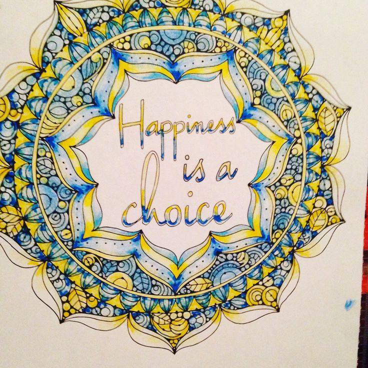 HAPPINESS Mandala #ColorLife