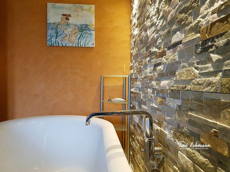 Badgestaltung um Frankfurt mit Naturmaterialien, Natursteinverblendern, Kalkmarm…