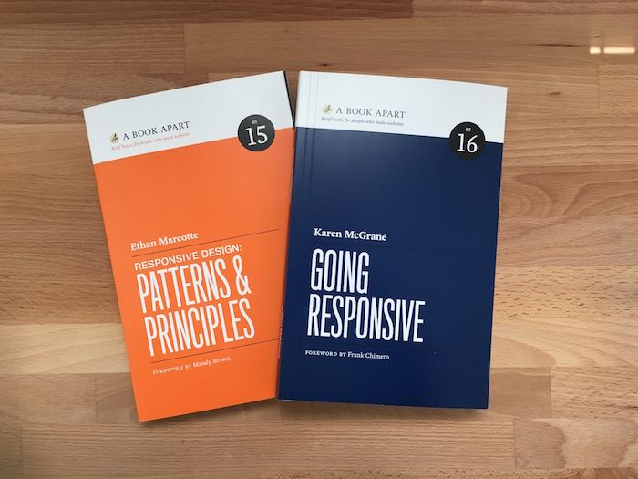 Responsive Design times two! New books from the geniuses, Ethan Marcotte and Karen McGrane.