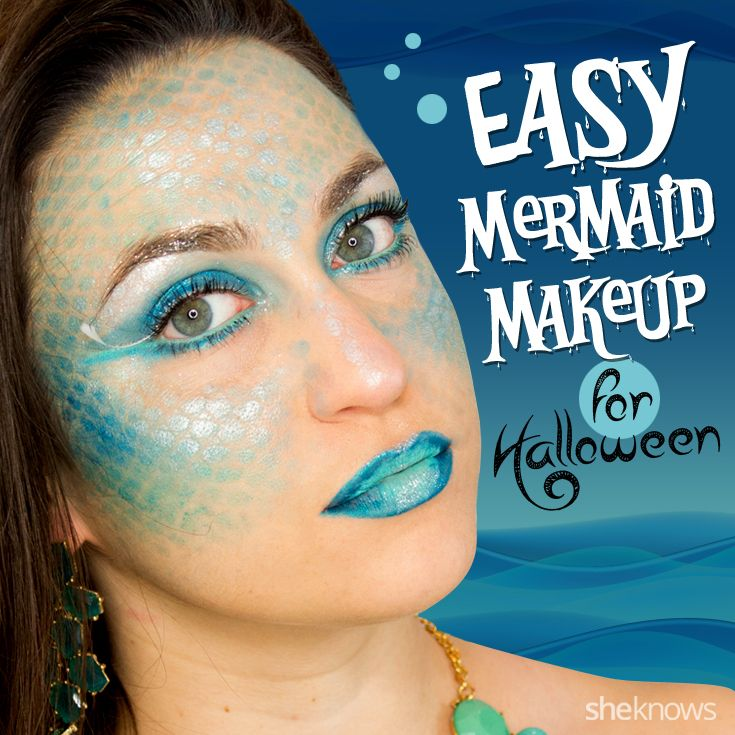 This mermaid makeup tutorial is everything you need for a stunning Halloween costume