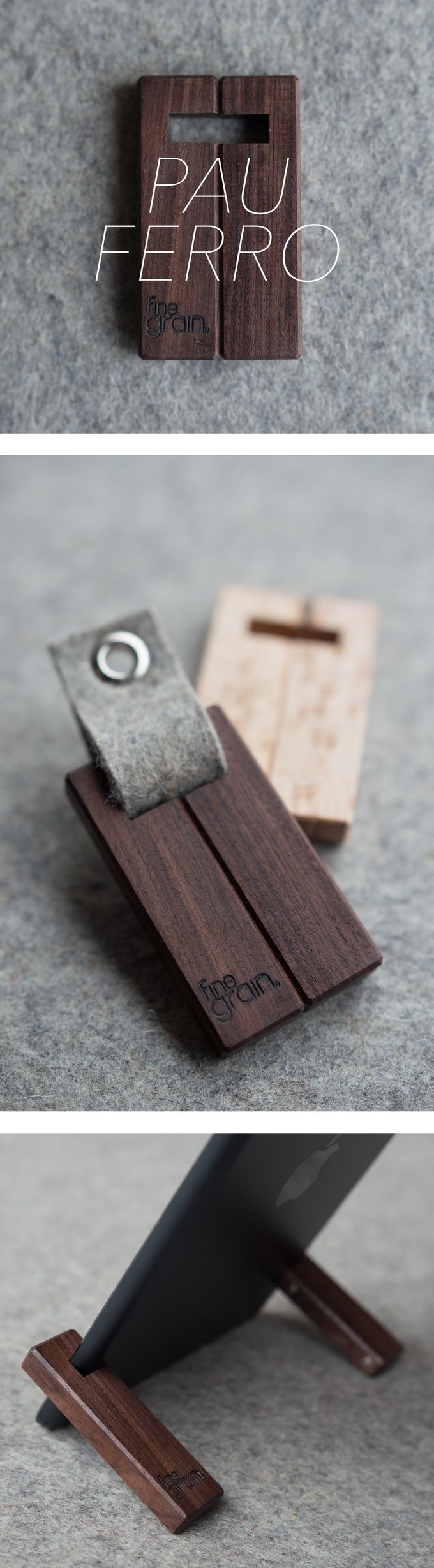 Minimalist Wood iPad Stands. Handcrafted in the USA.