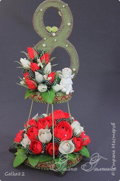 Свит-дизайн 8 марта Моделирование конструирование подарки к 8 марта Бумага гофрированная фото 11