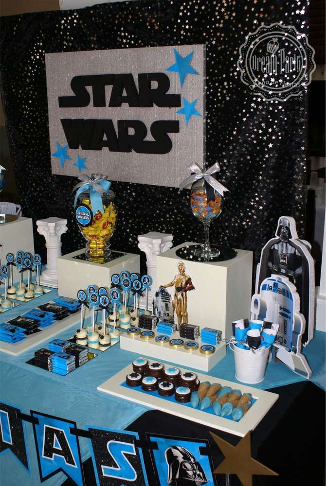 Awesome Star Wars birthday party! See more party planning ideas at CatchMyParty.com!