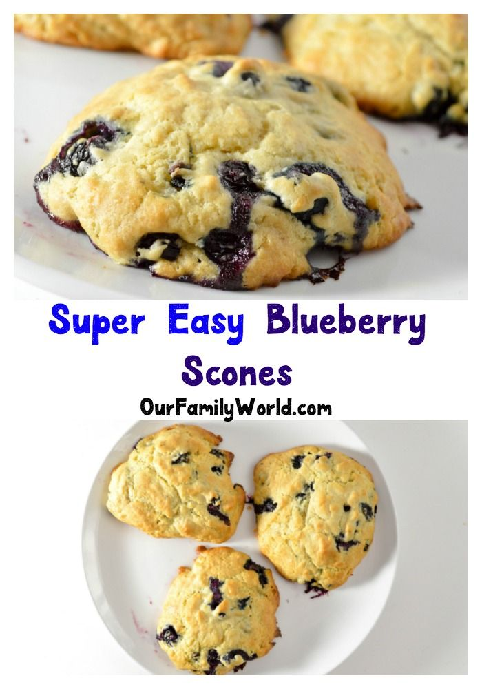 This blueberry scone recipe makes a delicious low calorie dessert that goes great with tea or coffee! It's also perfect for breakfast!
