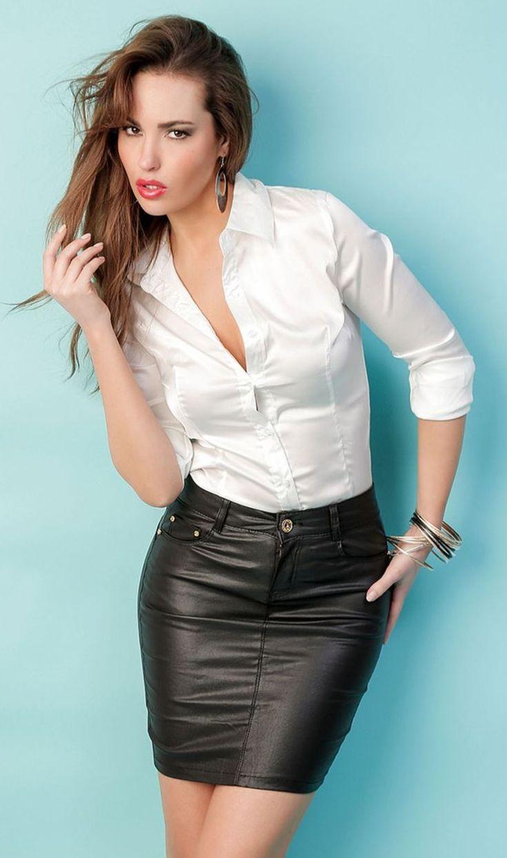 Women's black leather skirt slim step leather skirt hot shorts