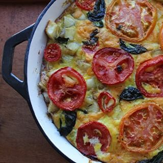 Yuca-Tomato Basil Frittata | Here's What Real Healthy People Actually Eat For Brunch